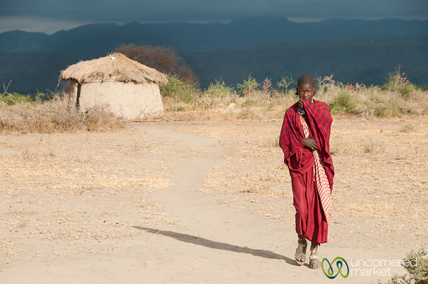 Young Masai Woman in Village - Lake Manyara, Tanzania