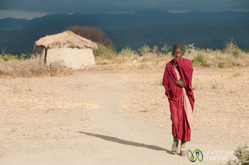 Young Masai Woman in Village - Lake Manyara, Tanzania