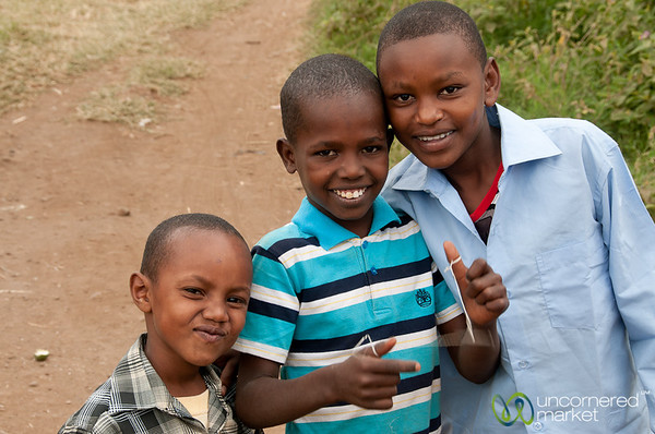 Friendly Boys in Town - Mto wa Mbu, Tanzania