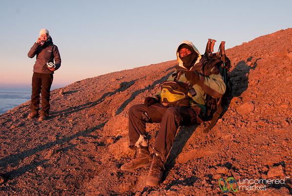 Taking a Rest - Mt. Kilimanjaro, Tanzania