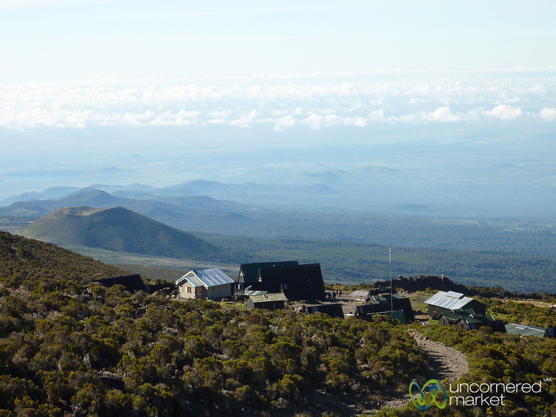 Looking Down on Horombo Huts - Mt. Kilimanjaro, Tanzania