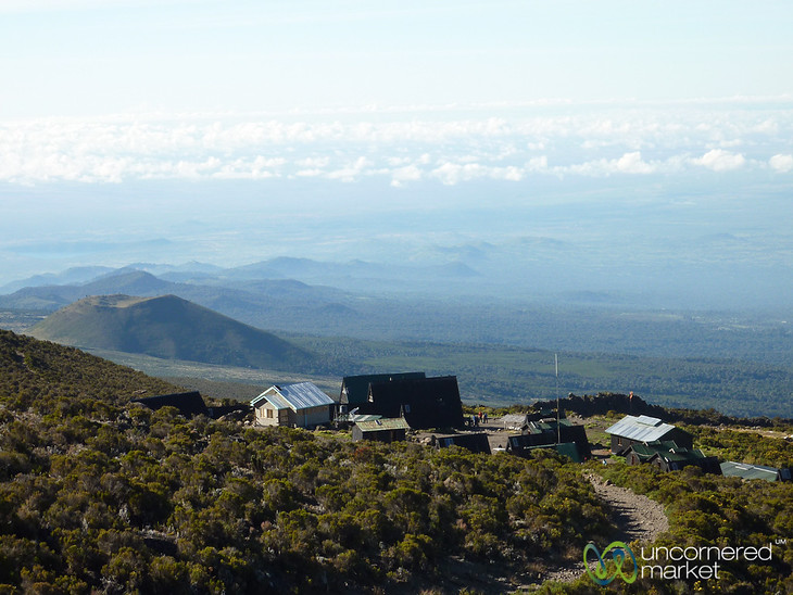 Looking Down on Horombo Huts - Mt. Kilimanjaro, Tanzania