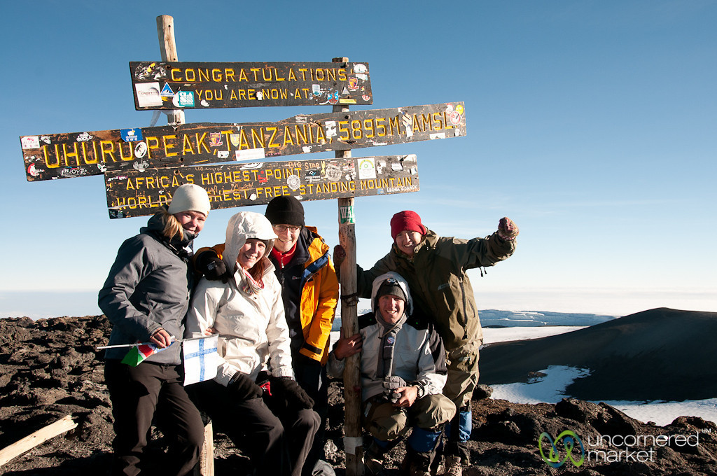 Our Whole Group at Uhuru Peak - Mt. Kilimanjaro, Tanzania