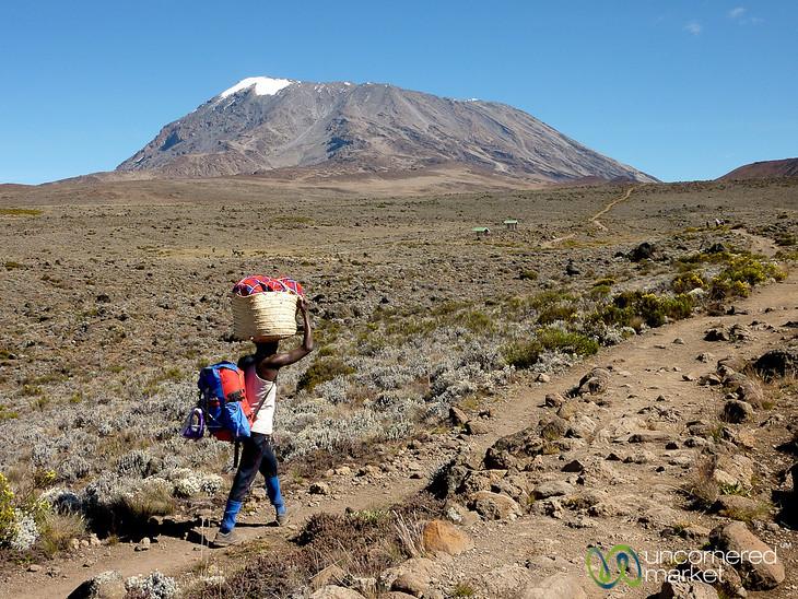 Porter Below Uhuru Peak - Mt. Kilimanjaro, Tanzania
