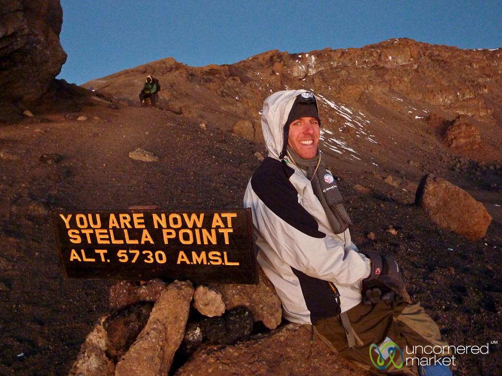 Dan at Stella Point - Mt. Kilimanjaro, Tanzania