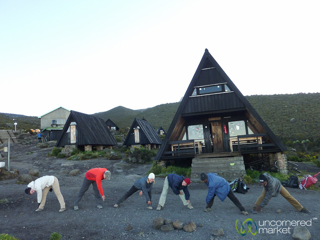 Morning Exercise at Horombo Huts - Mt. Kilmanjaro, Tanzania
