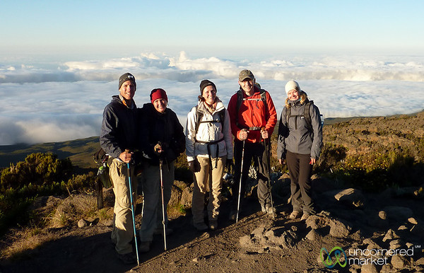 Our Kilimanjaro Group Above the Clouds - Horombo Huts, Tanzania