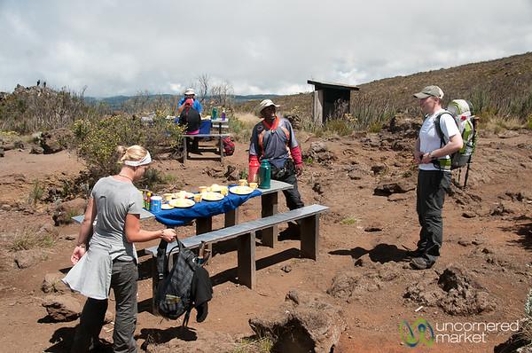 Lunch Time on Trekking Trail - Mt. Kilimanjaro, Tanzania