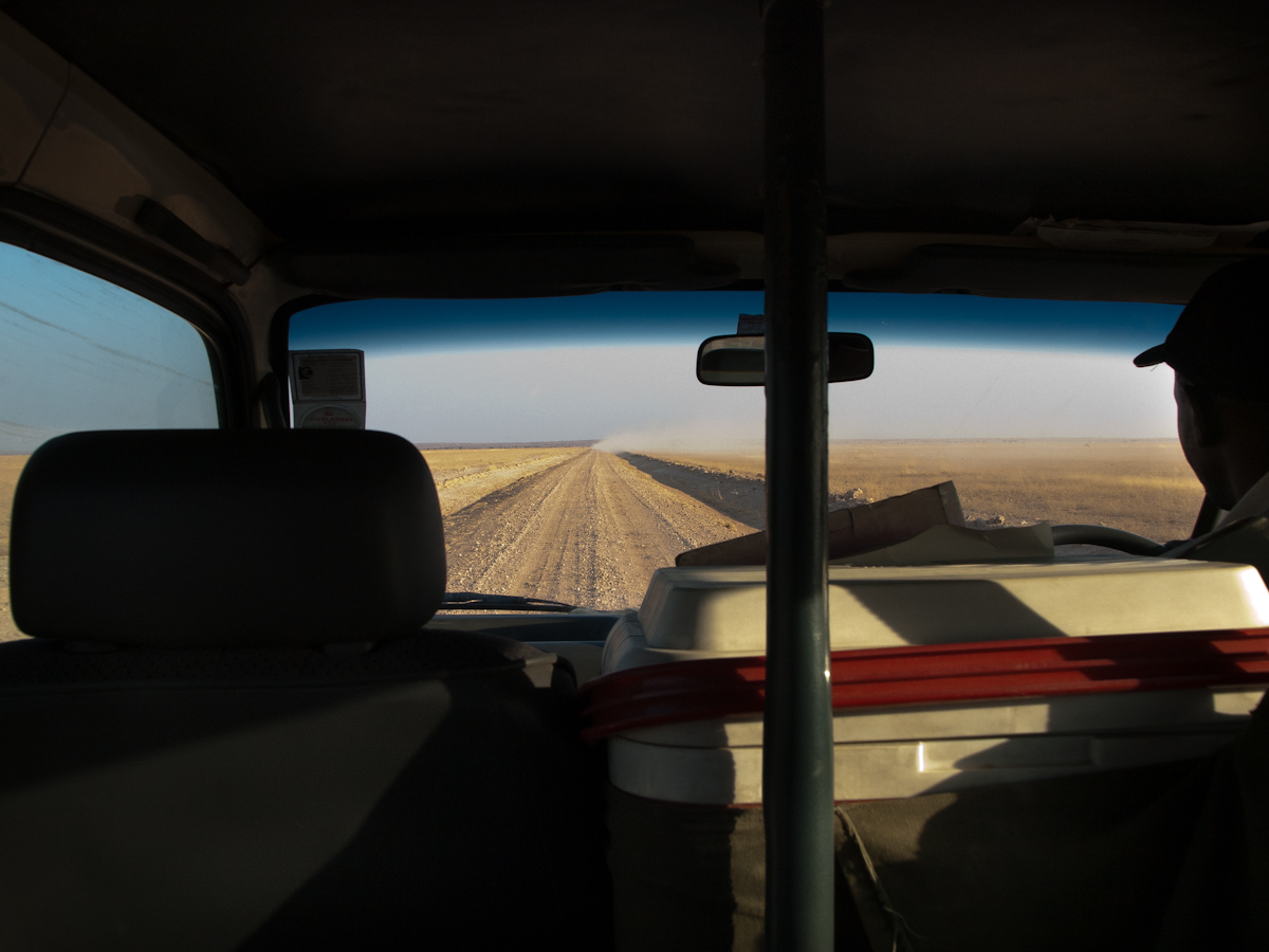 On our way to the Ngorongoro Crater.  This was our view when traveling between game parks.  The road were rough and very dusty.