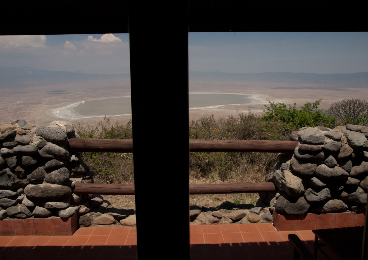 View of the Ngorongoro Crater from our room.
