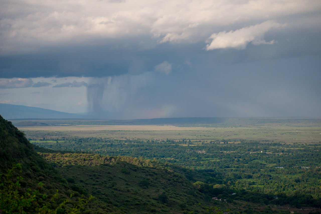 Camping on the edge of Lake Manyara