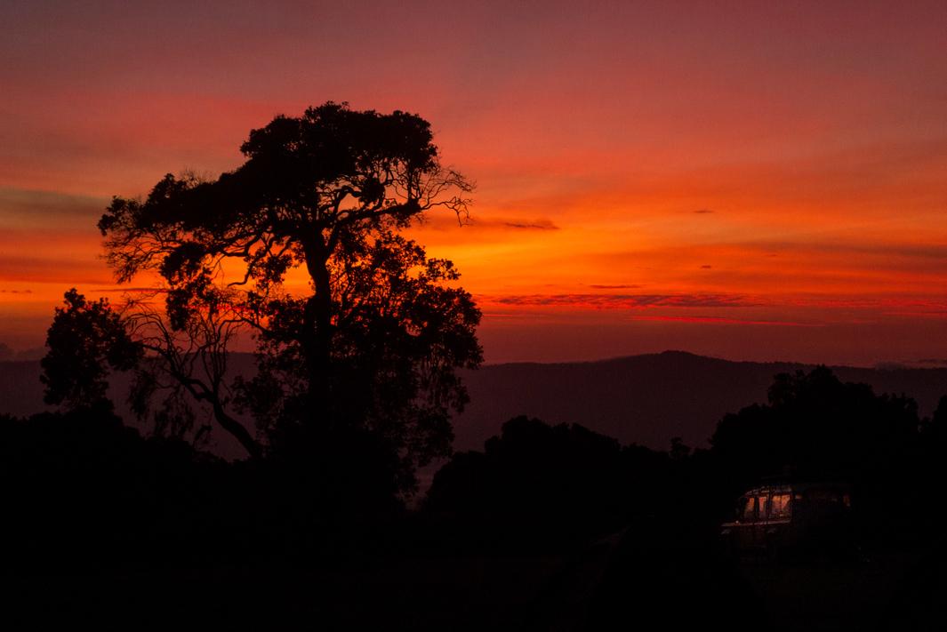 Sunrise on the crater rim