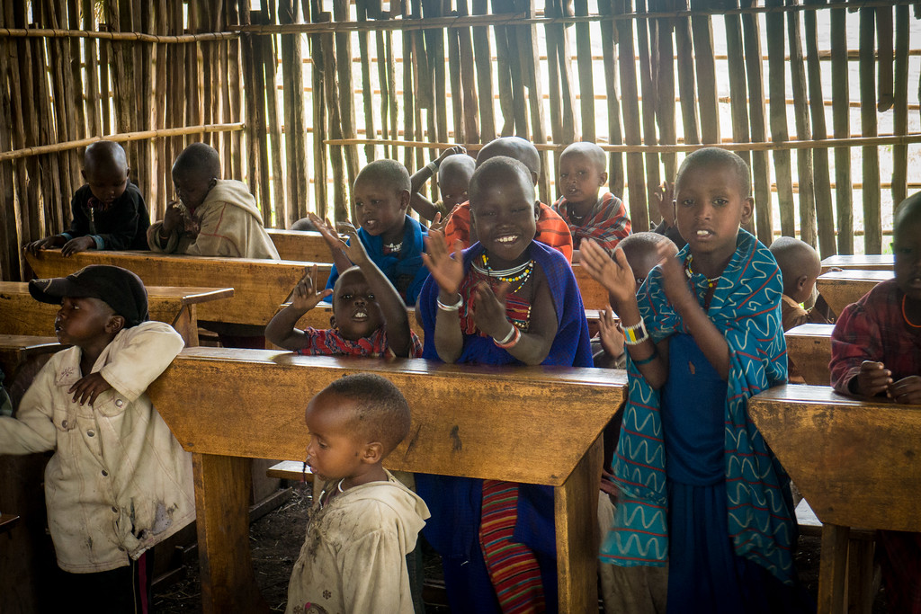 A local Maasai school near the manyatta