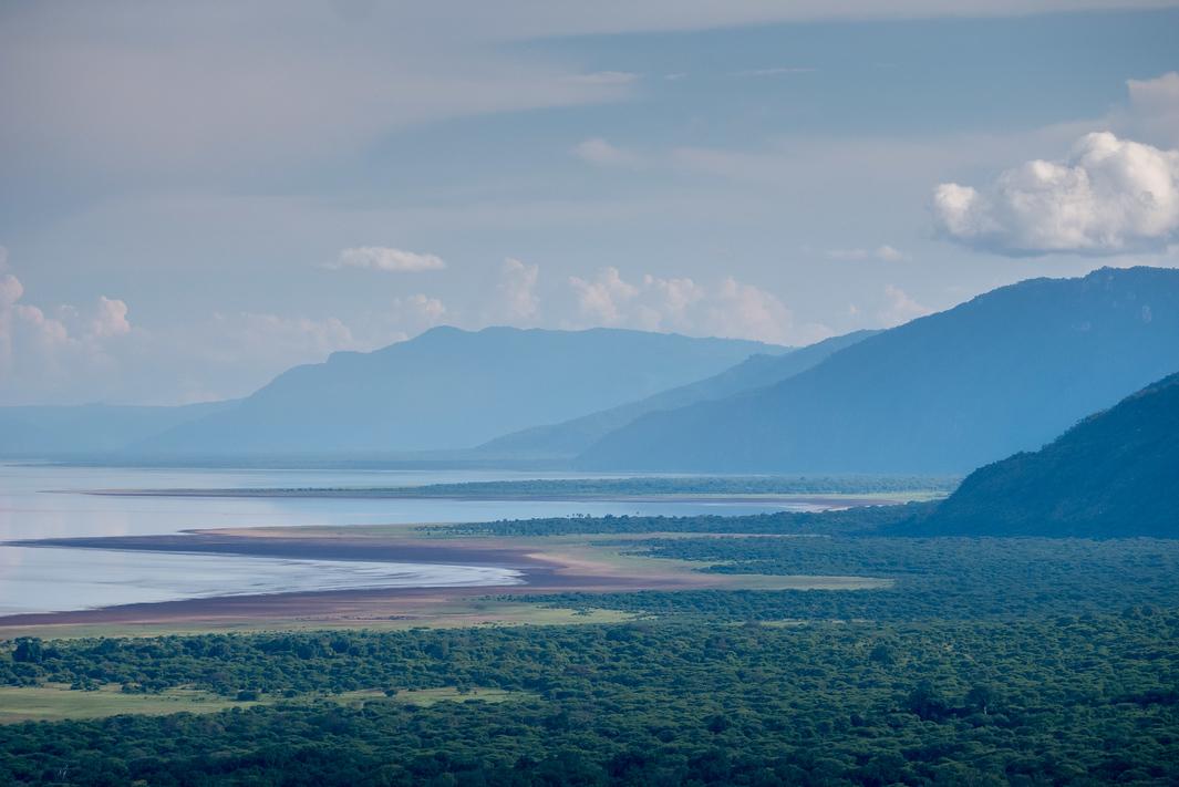 Looking out at Lake Manyara
