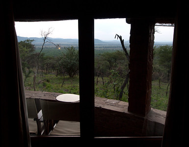 View from our lodge room.  We could watch elephants in the evening eating vegetation about 15 yards off of our deck.