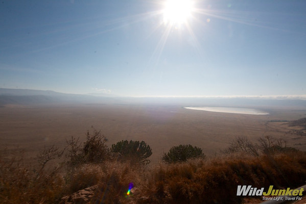 The Ngorongoro crater from above