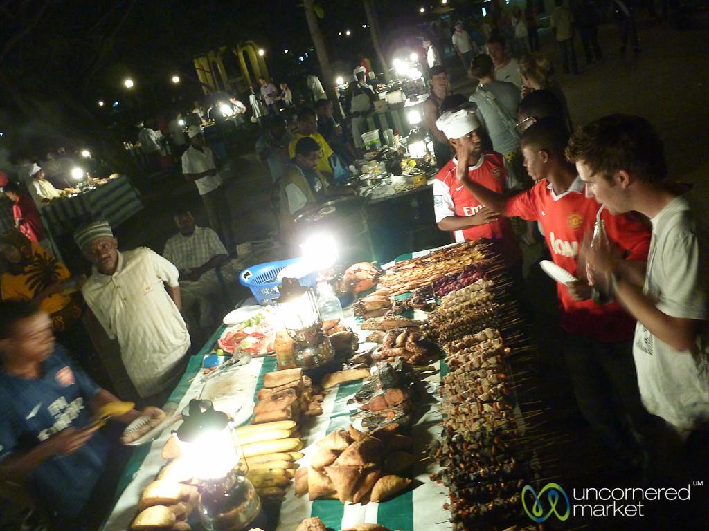 Forodhani Night Market for Dinner - Stone Town, Zanzibar