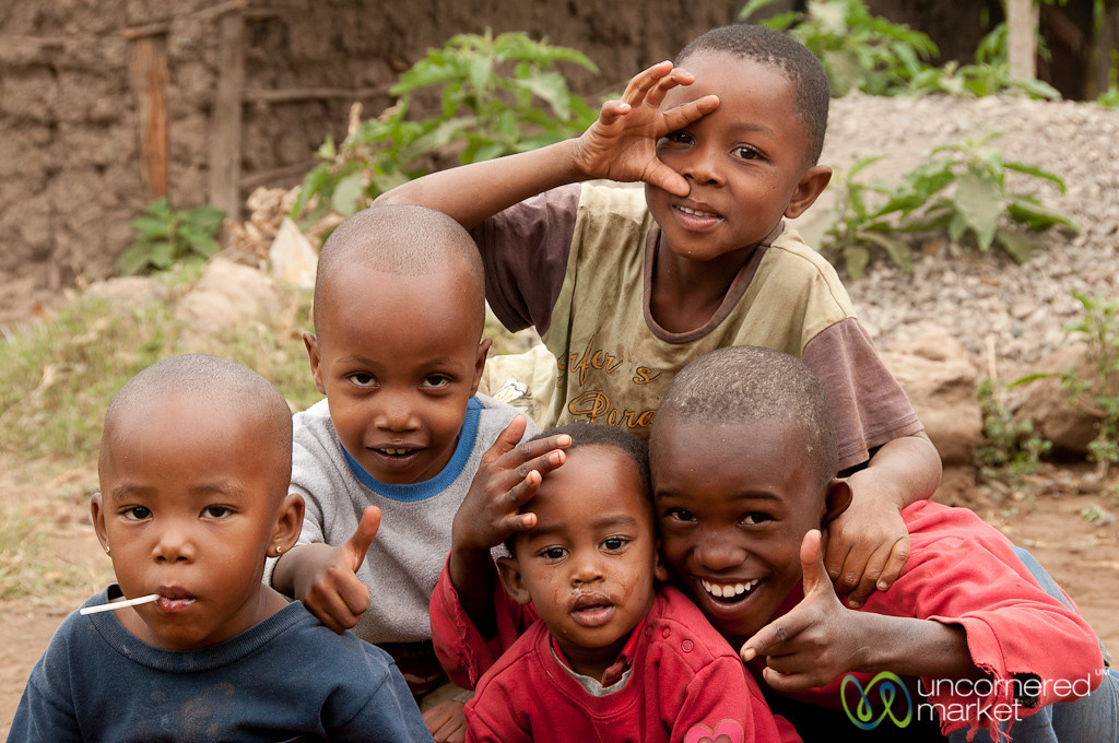 Group of Friendly Kids - Mto wa Mbu, Tanzania
