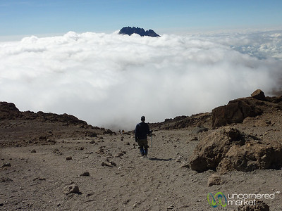 Walking Down from Uhuru Peak - Mt. Kilimanjaro, Tanzania