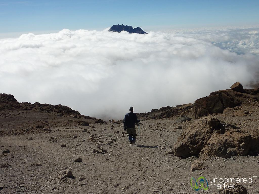 Walking Down from Uhuru Peak - Mt. Kilimanjaro, Tanzania