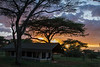 Sunset at the tented camp in Nabi Hill, Serengeti National Park, Tanzania, Africa.  Febuary 2016