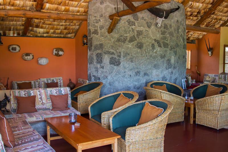 Bar area at the Ndutu Safari Lodge, Ngorongoro Conservation Area, Tanzania, Africa.  February 2016