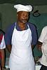 Cook at tented camp, Lake Manyara, Tanzania, Africa.  February 2013