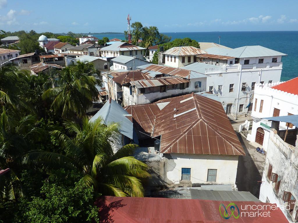 Stone Town Rooftops and Water - Zanzibar, Tanzania