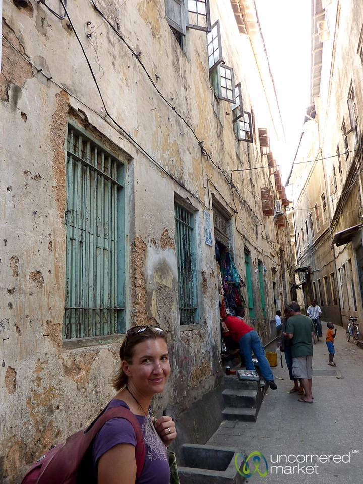 Audrey in the Streets of Stone Town - Zanzibar, Tanzania