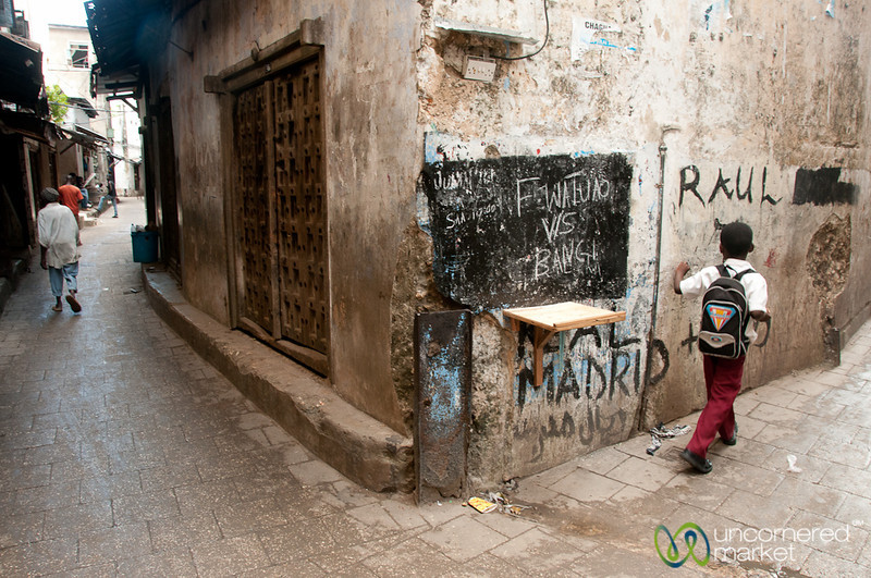 At the Corner in Stone Town - Zanzibar, Tanzania