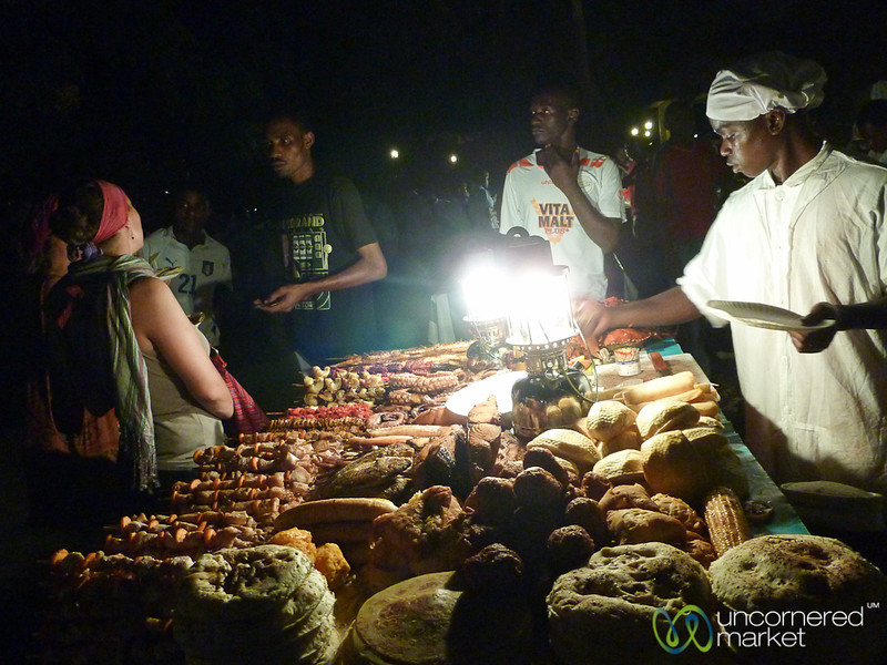 Choosing Your Meat at Forodhani Night Market - Stone Town, Zanzibar