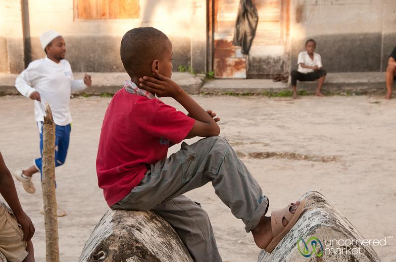 Watching Football Game - Stone Town, Zanzibar