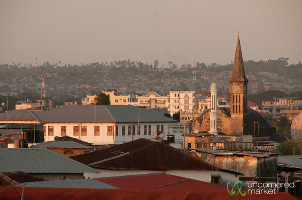 Rooftop View of Anglican Church - Stone Town, Zanzibar