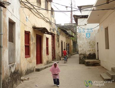Young Student with Head Scarf - Zanzibar, Tanzania