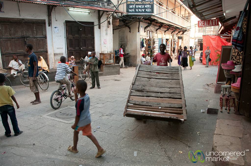 Typical Street Scene - Stone Town, Zanzibar