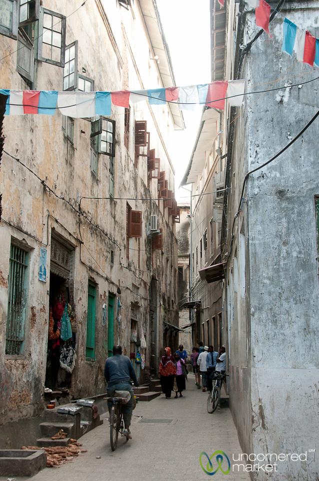 Street Scene in Stone Town - Zanzibar, Tanzania