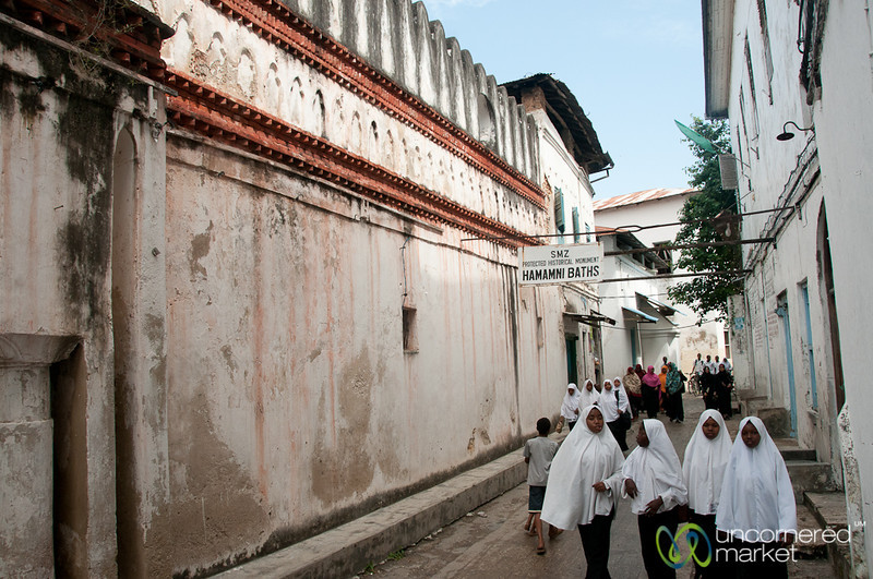 School Girls in Stone Town - Zanzibar, Tanzania
