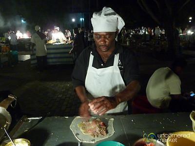 Zanzibar Pizza at Forodhani Night Market - Stone Town, Zanzibar