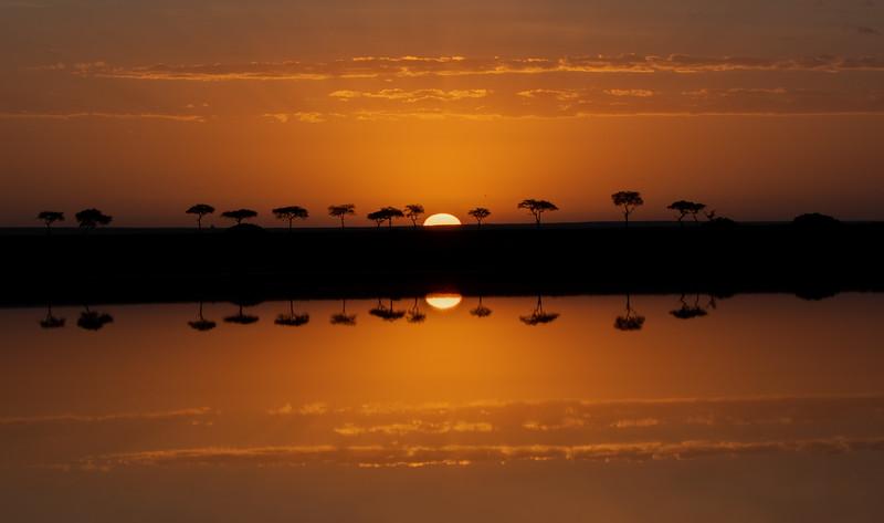 Sunrise At A Serengeti Lake