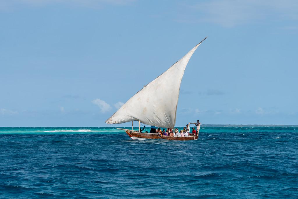 Dhow boat sailing in Zanzibar