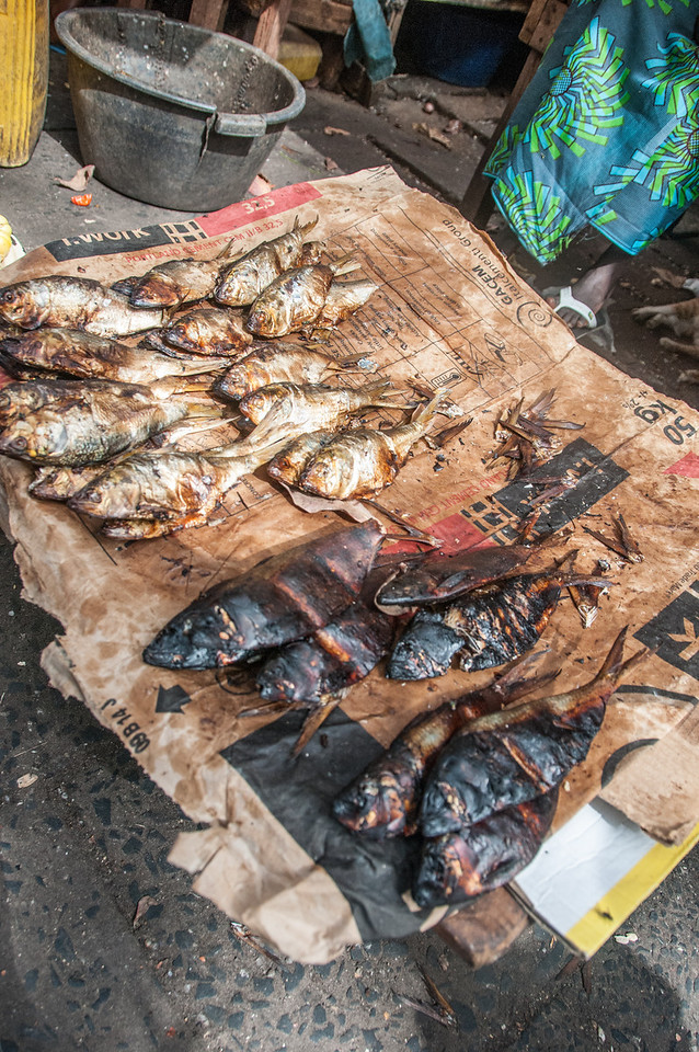 Fish for sale at the market in Banjul, Gambia