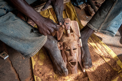 Wooden carving in Banjul, Gambia