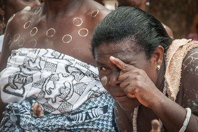 Woman during traditional performance in Lome, Togo
