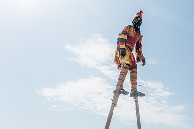 Stilt walker in Lome, Togo