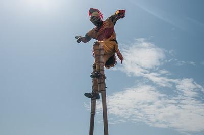 Stilt walker in Lome, Togo