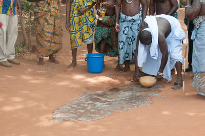 Traditional rites and performance in Lome, Togo