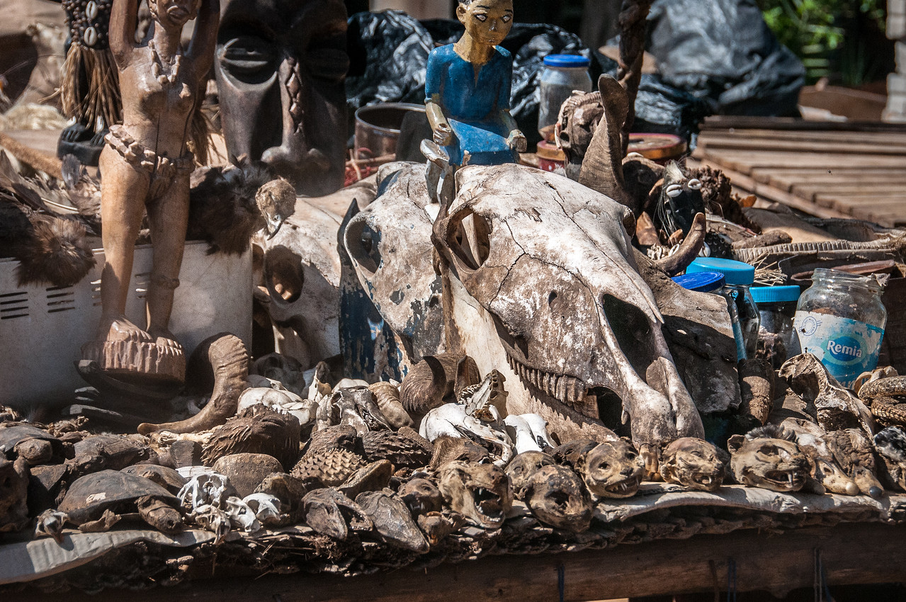 Fetish market in Lome, Togo