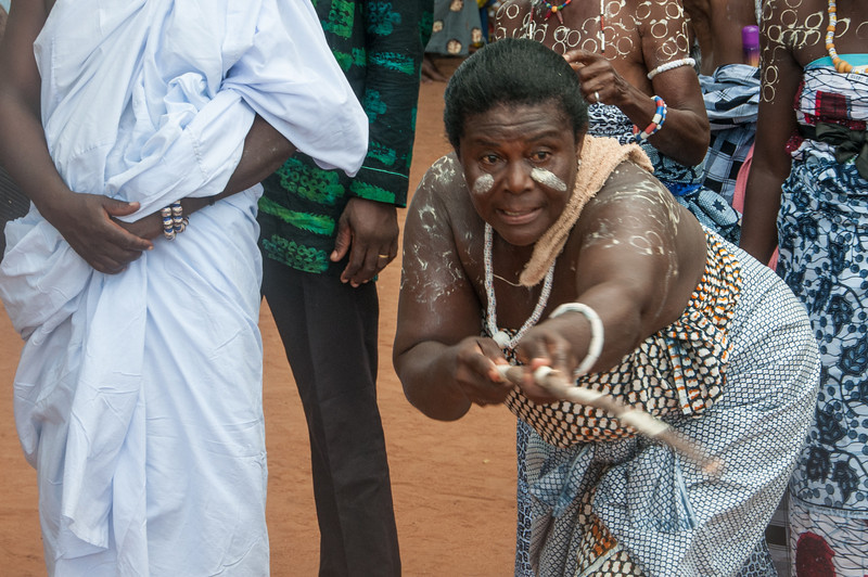 Locals perform traditional dance in Lome, Togo