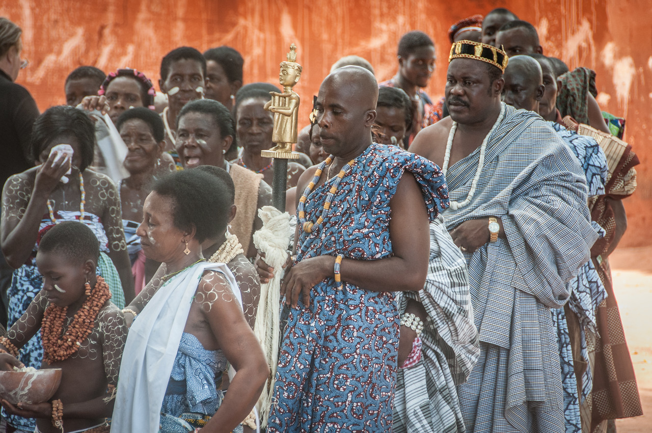 Locals during traditional performance in Lome, Togo