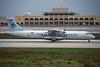 """TS-LBC Aerospatiale ATR-72-202 """"Tuninter"""" c/n 281 Malta-Luqa/LMML/MLA 11-01-96 (35mm slide)"""